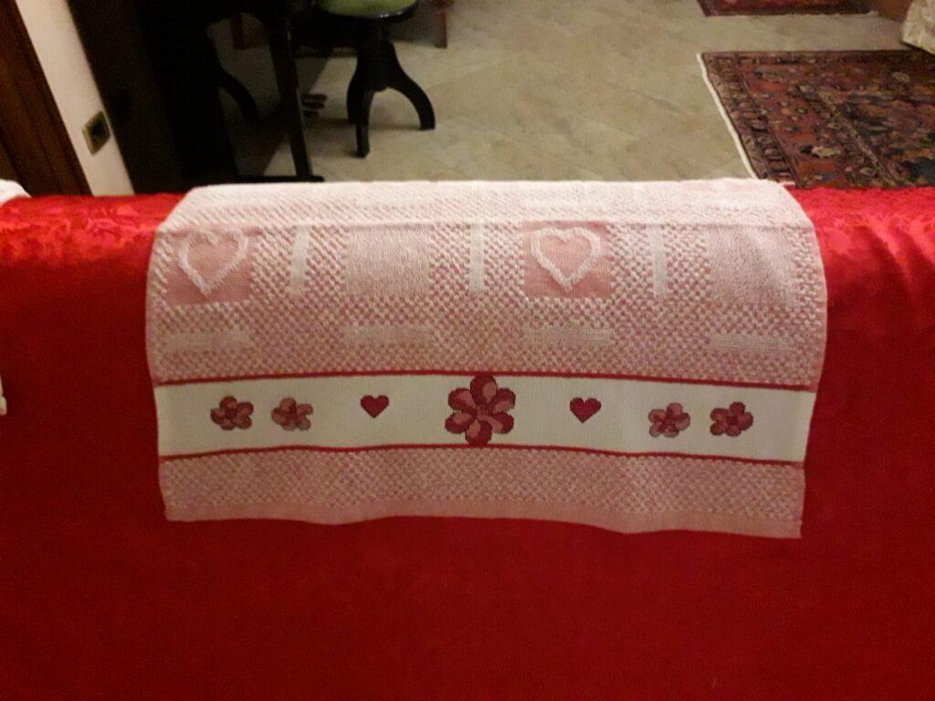 Asciugamano cuori